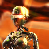3D Illustration of a Fembot Stock Photos