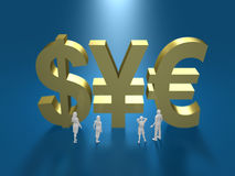 3D illustration of financial system Royalty Free Stock Photos