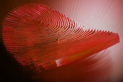 3D illustration Fingerprint scan provides security access with biometrics identification. Personal data hacking concept. Hacking, insecurity Stock Photography