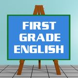 First Grade English concept Stock Photo