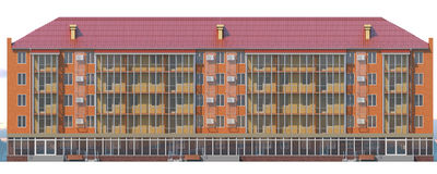 3D illustration of a five-floor house Royalty Free Stock Image