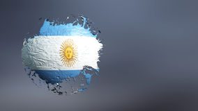 3d illustration of the flag. Of argentina Stock Images