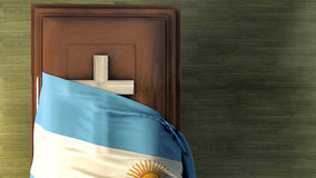 3d illustration of the flag. Of argentina and casket Royalty Free Stock Image