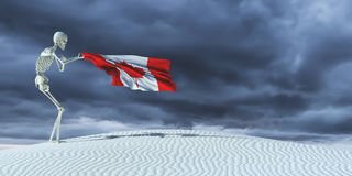 3d illustration of the flag. Of canada Stock Photography