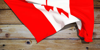 3d illustration of the flag. Of canada Stock Photos