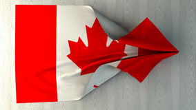 3d illustration of the flag. Of Canada Royalty Free Stock Images
