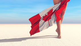 3d illustration of the flag. Of canada Royalty Free Stock Photo