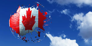 3d illustration of the flag. Of canada Royalty Free Stock Photography