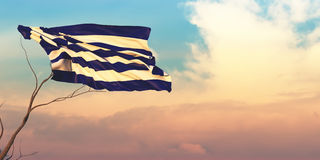 3d illustration of the flag Royalty Free Stock Photography