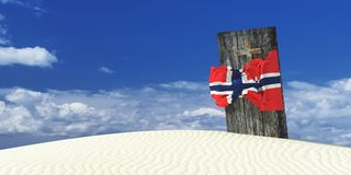 3d illustration of the flag Stock Photo