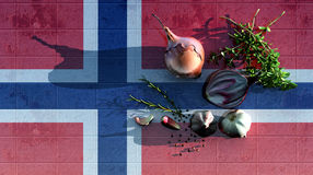 3d illustration of the flag Stock Images