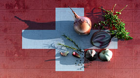 3d illustration of the flag Royalty Free Stock Images