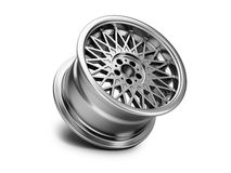 3d illustration of forged car rim  on white background Royalty Free Stock Image