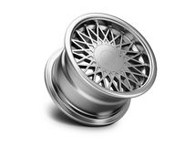 3d illustration of forged car rim  on white background Stock Images