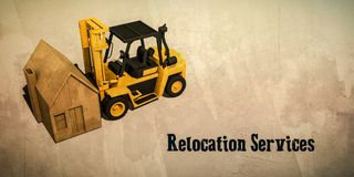 Relocation services business card Stock Photo