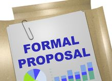 Formal Proposal concept Royalty Free Stock Photos