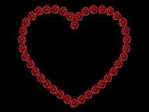 3D illustration frame rose heart. On a black background Vector Illustration