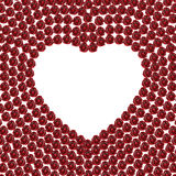 3D illustration frame rose heart. On a white background Vector Illustration