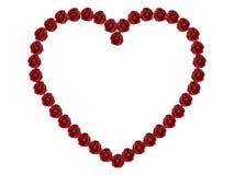 3D illustration frame rose heart. On a white background Royalty Free Illustration