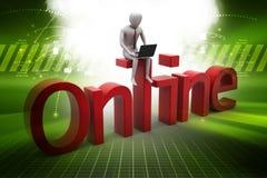 3d illustration of   Freelancer work online Stock Photo