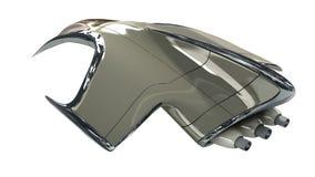 3D illustration of futuristic aircraft Stock Photos