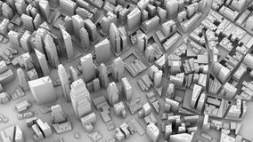 3D illustration of futuristic modern city. Architecture Stock Photo