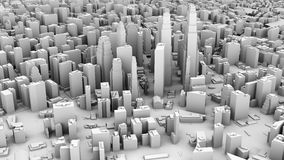 3D illustration of futuristic modern city. Architecture Stock Photography