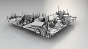 3D illustration of futuristic modern city. Architecture Stock Photos