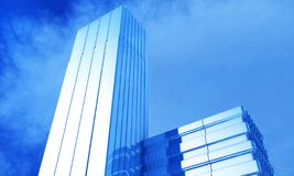3d illustration of a generic cityskyscraper and office building stock photography