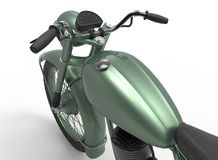 3d illustration of generic motorcycle. Nice and clean metal.  on white background Stock Images