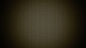 3D Illustration - genesis pattern - the flower of life gold black 2 stock images