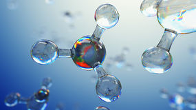 3d illustration of glass molecules. Atoms connection concept. Abstract science background. 3d illustration of glass molecules. Atoms connection concept Stock Images