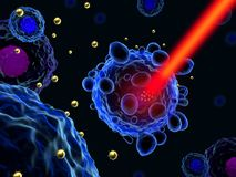 Gold nanoparticles for cancer treatment Stock Photos