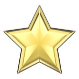 3D illustration gold star Stock Photos