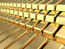 Golden bars Royalty Free Stock Photos