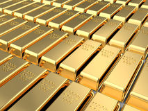 Golden bricks Stock Image