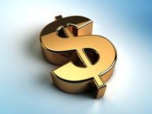 Golden dollar Stock Photo