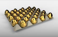 Golden eggs carton vector illustration