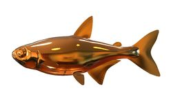 3D Illustration Golden Fish. Isolated on white background Stock Images