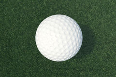 3D illustration Golf ball and ball in grass, close up view on tee ready to be shot. Golf ball top view. 3D illustration Golf ball and ball in grass, close up Stock Images