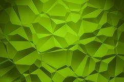 3D Illustration - grüner glänzender Dreieckmuster Hintergrund 3 stockfotos