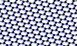 Graphene. 3D illustration of graphene molecular stucture Royalty Free Stock Photos