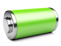 3D illustration of green battery Stock Photos