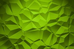 3D Illustration - green brilliant triangle pattern Background 3 stock photos