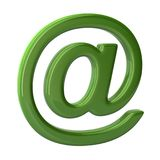 3D illustration green email sign on white background royalty free illustration