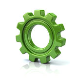 Green gear wheel Royalty Free Stock Photography