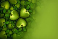 Green Apple Clovers 3D Stock Image