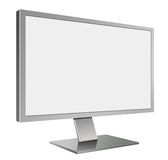 3D illustration of Grey LED Computer Mornitor in Perspective Stock Photography