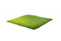 3d illustration of ground with grass isolated on white.  Stock Photos