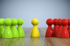 Group of game figures. 3d illustration of a group of game figures Royalty Free Stock Photo